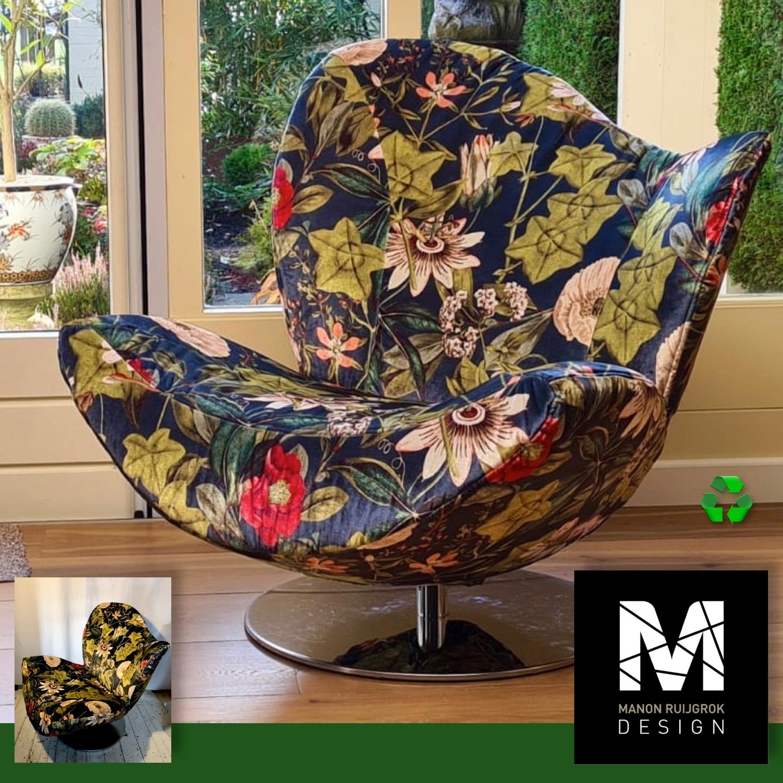 Esprit Wave stoelhoes passiflora stof manonruijgrokdesign meubelstoffering