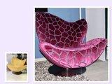 Esprit Wave fauteuil met zware stof bekleed.