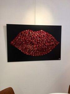 Wanddecoratie Rode Lippen