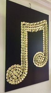 Muzieknoot 3D wanddecoratie